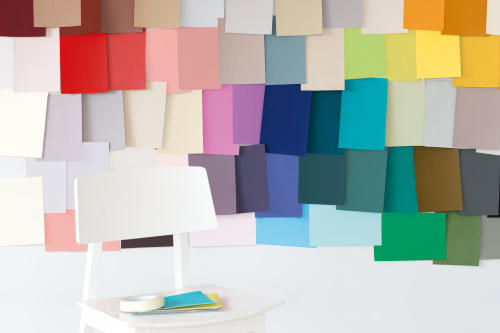 vägg färglappar